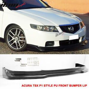 Fits 04-05 Acura TSX P1 Style Front Bumper Lip Spoiler Unpainted - PU