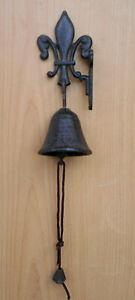 Glocke, Wandglocke, Türglocke aus Gusseisen Höhe 19cm (113-BR)