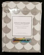 "NEW Lamont Home Finley 72"" x 72"" Cotton Matelasse Shower Curtain Grey/White"