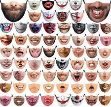Смешные моющиеся маска половина лицо рот марка хип-хоп cospaly партия один размер нагрудник