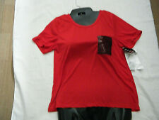 Crave Fame Almost Famous Red Bling Pocket T Shirt Top Womens Juniors Xl Fit M