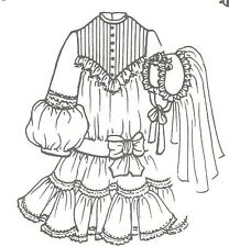 "Sewing Pattern doll size 23-24"" Vintage Fashion doll Modern Communion dress997"