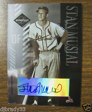 Stan Musial 2003 Leaf Limited 5/5 Autographed Card 1/1