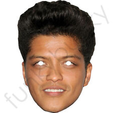 Bruno Mars Celebrity Singer Card Mask - All Our Masks Are Pre-Cut!