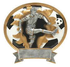 "7"" Male Soccer Sport Blasters Pdu Resin Plaque Free Engraving"