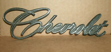 1960's and 1970's Chrome Chevrolet Script Trunk Emblem GM General Part # 9831025