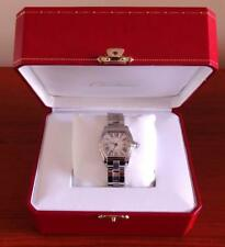 Mint Ladies Cartier Roadster 2675 Stainless Steel 30x36mm Date Watch & Box