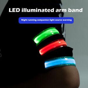 USB Charging LED Luminous Hand Strap Night Running Sports Safety Reflective Band