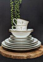 Vtg (12 piece) Noritake Courtney #6520 Dinner Setting For 2 Japan Porcelain