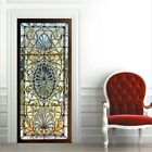 2* 38.5*200cm 3d Self-adhesive Stained Glass Door Sticker Decal Mural Home Decor