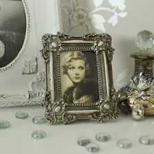 Argento stile antico cornice fotografica shabby chic vintage foto vetrina regalo