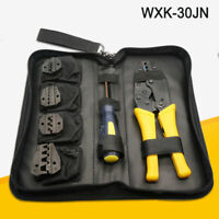 Pro Ratchet Crimper Plier Crimping Tool Cable Wire Electrical Terminals Kit Set