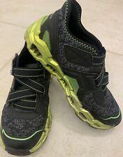 SKECHERS Boys MEGA-FLEX LITE Sneakers Shoes Size 2 Black/Green