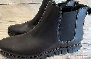 New Cole Haan ZeroGrand Chelsea Boot Black Leather lunargrand C30163 Sz 12 D