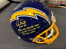 Dan Fouts AUTO Signed Chargers Throwback Full Size Helmet 4 Inscriptions Beckett