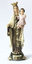 """MARY OUR LADY OF CARMEL - 8"""" RESIN FLORENTINE STATUE / FIGURINE"""