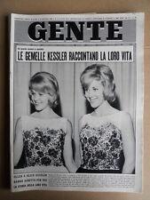 GENTE 2 1963 Gemelle Kessler Valeria Ciangottini incendio Circo Darix Togni [D51