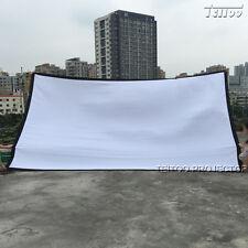 "200""16:9 Profile Folding Portable HD Projector Screen Curtain Film Outdoor Movie"