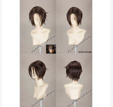 Anime Final Fantasy Squall Leonhart Wig Short Mixed Brown Cosplay Costume Wigs