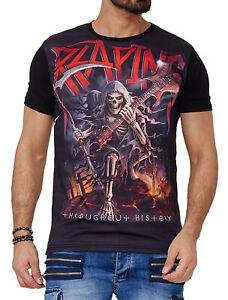 Herren T-Shirt Skull design Totenkopf Kurzarm Shirt Rundhals TS-1599C John Kayna