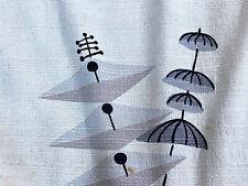 Atomic Surrealist Mid Century Barkcloth Vintage Fabric Drape Curtain 50's CUTTER