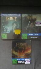 Blu-Ray THE HOBBIT 1/2/3 Trilogy STEELBOOK-NEW & OVP