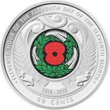 NEW ZEALAND 2018 50 CENT ARMISTICE DAY