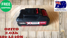 Genuine OZITO Power X Change 18V 2.0Ah Li-Ion Battery Built-in Eco Charge safety