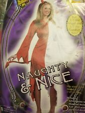 *BRAND NEW* Angel Devil Naughty and Nice VELVET Costume Halloween Women M/L 8-14