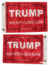 12x18 President Trump Great Red 2 Faced 2-ply Wind Resisant Flag grommets
