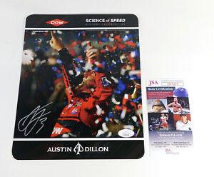 Austin Dillon Signed 8 x 10 Color Racing Photo JSA Auto DA037705