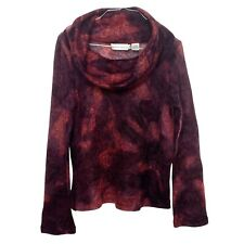 Dana Buchman Red Marbled Cowl Neck Sweater Size M Women's