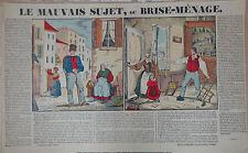 Rare Vintage Imagerie Epinal Pellerin print/Le Mauvais Sujet...INV2304