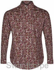 Cotton Paisley Regular 60s Casual Shirts & Tops for Men