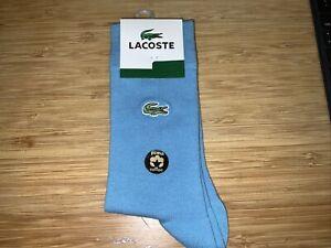New Lacoste Women's One Size Blue Socks Pima Cotton