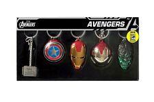 SDCC 2016 Marvel Avengers 5PC Pewter Key ring Set NIB. Collectors Item