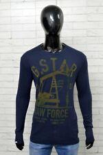 Maglia G-STAR RAW  Uomo Taglia Forte Size XXL Maglia Shirt Man Blu PARIA L NUOVO