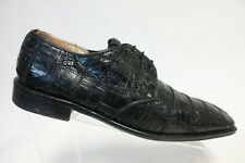 DAVID EDEN Genuine Crocodile Black Sz 10.5 M Men Square-Toe Dress Shoe Derbys
