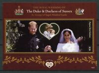Papua New Guinea PNG 2018 MNH Prince Harry Meghan Wedding 1v S/S Royalty Stamps