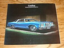 Original 1974 Pontiac Catalina Sales Brochure 74