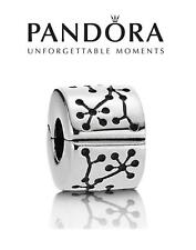 Genuine PANDORA sterling silver LUCERNE CLIP LOCK charm bead