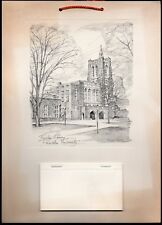 Princeton University - 1967 RI Insurance Co. Wall Calendar - Firestone Library