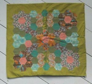 VINTAGE HANDMADE PATCHWORK CUSHION COVER