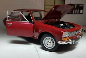 G LGB 1:24 Scale 1975 Peugeot 504 Saloon Dk Red Detailed Welly Diecast Model Car