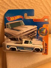 HOT WHEELS 2017 SURF UP CUSTOM '62 CHEVY PICKUP BLANC 1/64 #1/5