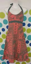 Patagonia Women's Small Workout Yoga Halter Top Organic Cotton Red Gray Dress