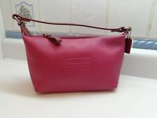 Coach Berry Fuschia Leather Mini Shoulder bag with Coin Purse