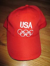 United States OLYMPIC TEAM USA (Adjustable) Cap RED