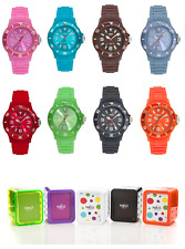 LOTTO 18 OROLOGI IN SILICONE NEO NICE N1 STILE ICEWATCH SWATCH NUOVI 1242 EURO