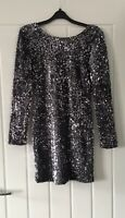 Motel Rocks Grey Silver Sequin Party Dress Bloggers Instagram Size S BNWOT
